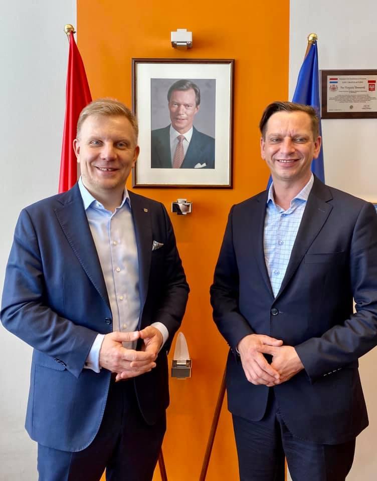 Krzysztof Bramorski (PLIG) i Michał Łuczak (DIG). Spotkanie w Polsko-Luksemburskiej Izbie Gospodarczej
